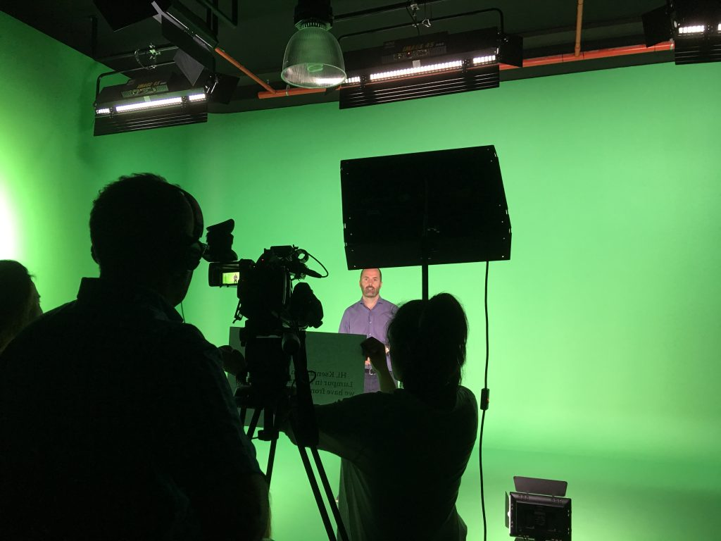 green screen studio production